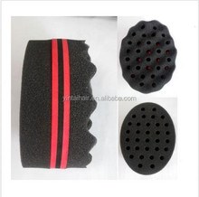 100 x Double Barber Hair Sponge Brush For Dreads Locking Twist Coil WAVE