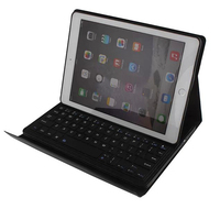 Fashion Crazy Horse Leather Removable Bluetooth Keyboard Case for iPad Air 2 Leather Case Stand Cover