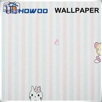 2015 hot sale animal / cartoon /zoo wallpaper for kids bedroom