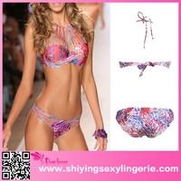 custom design Sexy Triangle Brazilian Print Push up Bikini hot mom sex photos