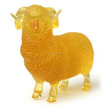 ARTBAY new product casting glass amber lovely liuli goat furniture