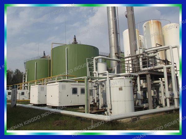 Mini Gas Plant : Mini biogas plant and large machinery mathane