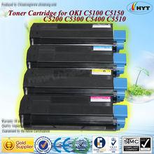 compatible para OKI C5100,C5200,C5300, C5400,C5510N,C5150N, C5510MFP color cartucho de tóner