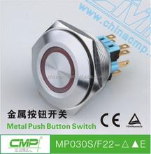 30 mm rouge Led tête plate momentanée voiture Push Button Switch DC 12 V étanche