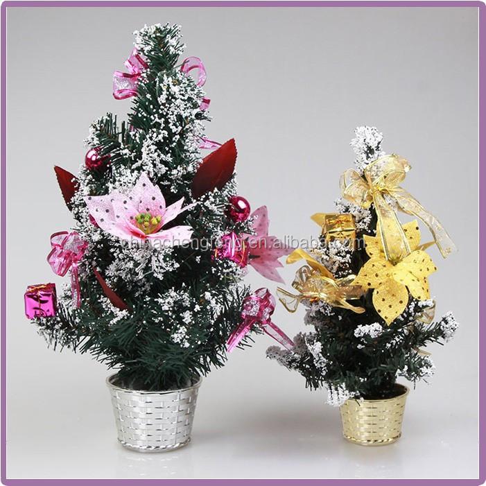 Artificial decoration fiber optic mini tabletop christmas for Artificial christmas decoration tree