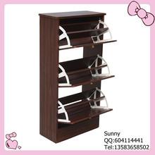 Strong black walnut wood shoe rack