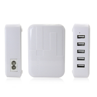 200PCS/LOT 2015 wholesale cell phone accessories universal 5 port usb mobile charger