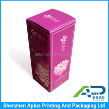 Custom pantone color printing wholesale paper natural skin care products packaging box