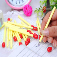 1Pcs Cre-ative Match Head Pattern Ballpoint Pens Kids School Ball Pen With Blue Ink Lovely Stationery Gift