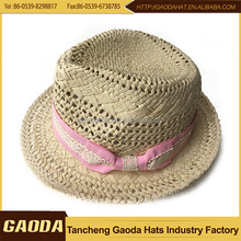 Cheap skimmer mens paper straw hat paper straw breathable fedora hat