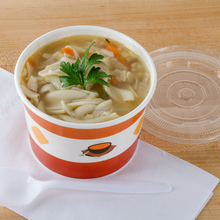 2015 Paper Soup Cup Hot Food Cup with Plastic Lid Colorful Orange White Paper Hot Food Bolw