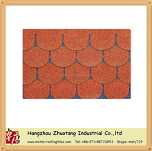 Top quality roofing material round asphalt shingle