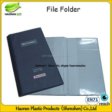 3 Fold fancy file folder mechanism
