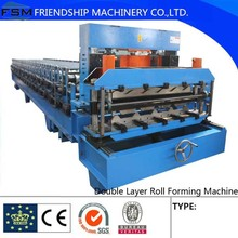 Double Layer Steel Roof Making Machine wall roof and glazed tile