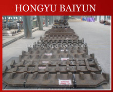 Manganese steel parts for shredder machine grates