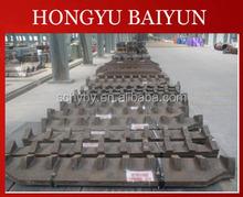 Manganese steel parts for shredder machine grates