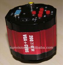 hight quality 2.0MP VGA and USB industrial camera/video camera 800tvl 15fb/s VGA out put CMOS