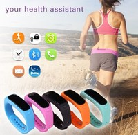 E02 Waterproof Bluetooth Smart Bracelet Watch, Sports Sleep Track smart watch for Android iphone mobile phone watch