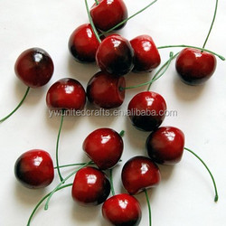 Red Cherries, Artificial Faux Imitation Fruit, Replica Drupes Cherry Fruits for decoration