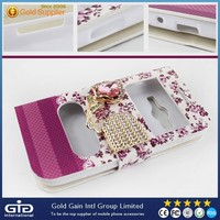 Luxury 3D Bling Diamond Leather Case for Samsung for Galaxy Ace 4