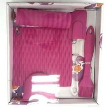 5pcs silicone baking tool set with gift box pakcing