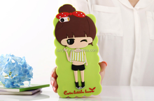 Top quality emboss 3d cute girls cheap mobile phone case/cover for iphone 5