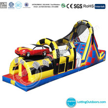 Inflatable Race Obstacle Course with Slide/Inflatable Interactive Equipment