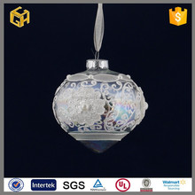 The onion shaped clear stainted glass christmas decorations for sale