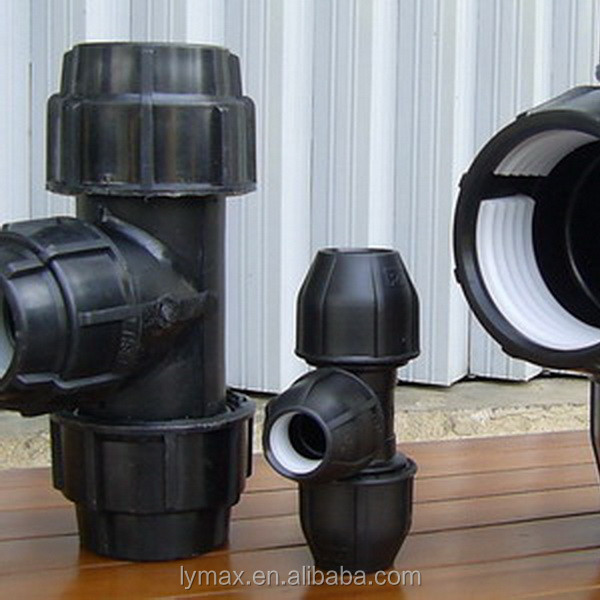 Hdpe poly pipe irrigation top grade fitting used