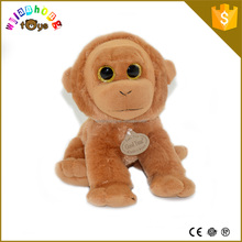 2015 20cm sitting cute plush stuffed toy small monkey for kids christmas gifts