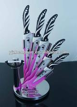 kitchen 5pcs knife set with non-stick coating color