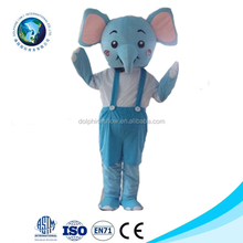 New elephant costume fancy dress realistic latex mascot animal costumes for kids and adult