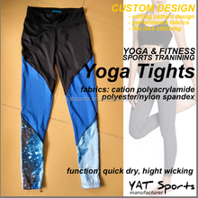 Flat lock sewing Women 86%Nylon 14%Spandex legging Running tights Custom printed Yoga pants
