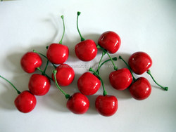 Beautiful realistic artificial fruit cherry