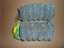 Galvanized iron dish copper scrubber/steel wool mesh scrubber