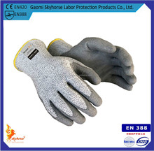 CE EN388 Cut level 5 coated nitrile cut protecting working glove/cut resistant gloves