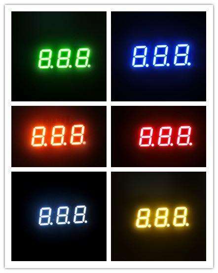7 segment triple digit led