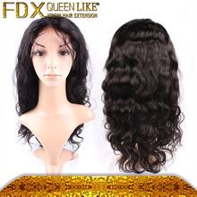 100% human hair peruvian beauty virgin full lace wig 12 inch