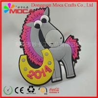 soft magnet for fridge 3D pvc little cartoon fridge magnet with cute animal