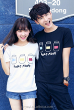 2014 New Design hot t shirt for couples with vivid print from NanChang Garment Factory