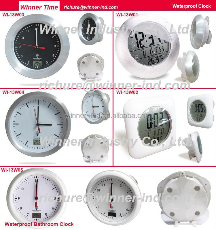 Horloge Salle De Bain Etanche Free Horloge De Salle De Bain Digital Lcd Thermomtre Hygromtre