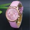 NEW Geneva Watch women Fashion Quartz Watches Leather Young Sports Women gold wrist watch