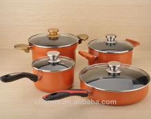 parte inferior encapsulada recubrimiento de aluminio de las ollas de cerámica para la cocina acs627