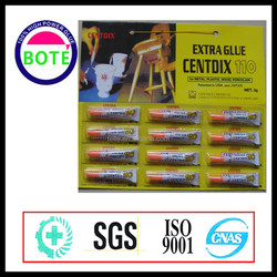 12pcs per card super glue 110 with aluminium tube pack