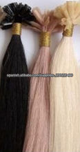 Indian human hair nail tip human hair extension
