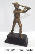 china made figure with baseball sports awards and trophy