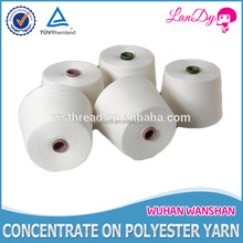 100% ring spun polyester yarn for sewing thread