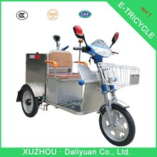 mini garbage passenger and cargo motorized aluminum adult tricycle