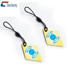 iso 14443 HF chip 13.56MHZ NFC Epoxy Key Tag RFID keyfob