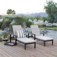 All weather rattan aluminum italian style outdoor furniture sun lounger